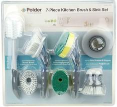 New1 Polder 7- Pezzi Cucina Spazzola & Lavello Set - $21.35