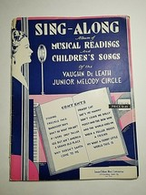 VTG Sing Along Musical Readiness & Children's Song Book Junior Melody Ci... - $11.63