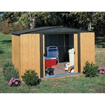 Outdoor Storage Shed Garden Storing Werehouse Steel Peak Roof Backyard L... - $380.92