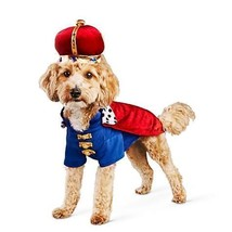 Bootique S Majestic King Dog Costume Cape Crown Hat Gold Jewels Small - $19.99