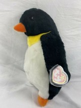 "Ty Beanie Buddy Waddle Penguin  10"" 1998 MINT CONDITION - FAST FREE SHIP... - $11.87"
