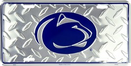 Penn State Nittany Lions Diamond Pattern Metal License Plate Auto Tag Sign - $6.95