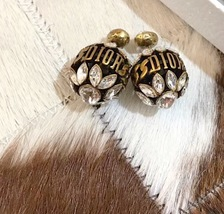 NEW AUTH Christian Dior 2019 DIO(R)EVOLUTION CRYSTAL TRIBALES EARRINGS AGED GOLD image 4