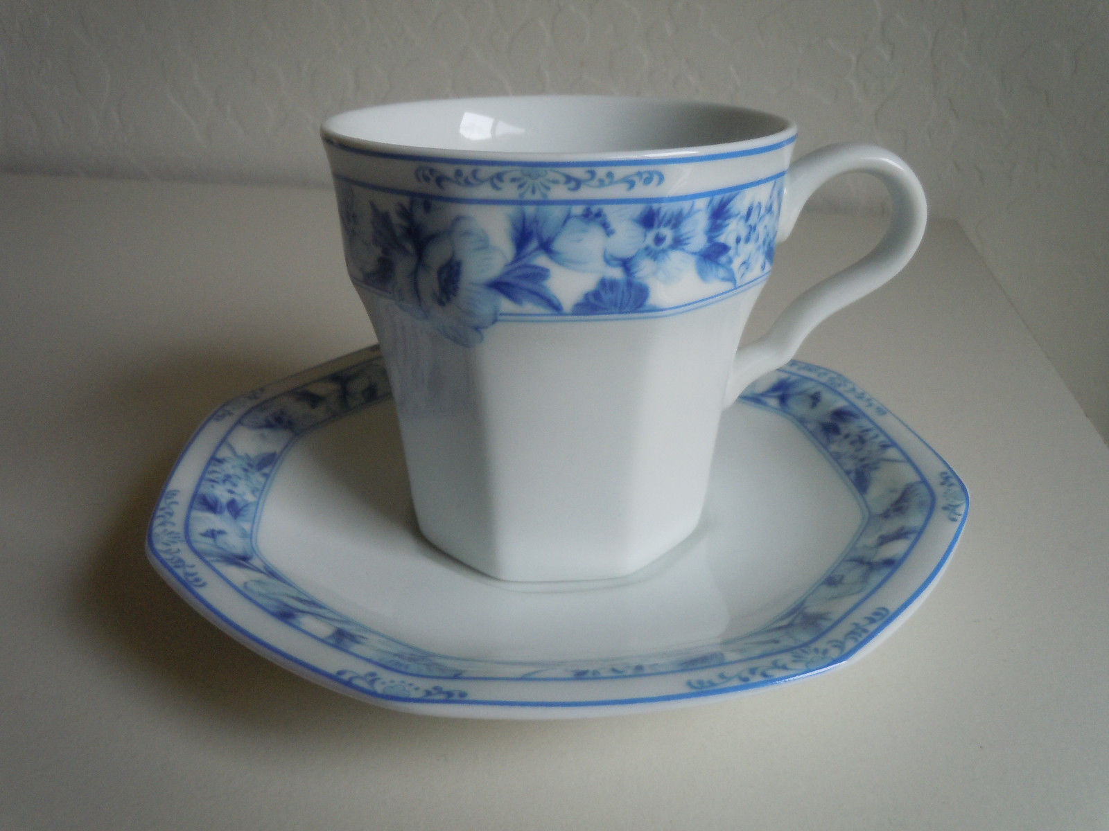 Christopher Stuart Dresden Blue Cup and Saucer
