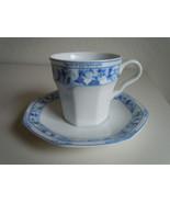 Christopher Stuart Dresden Blue Cup and Saucer - $6.33