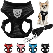 Breathable Mesh Small Dog Pet Harness & Leash Set Puppy Vest Pink Red Bl... - $9.98+