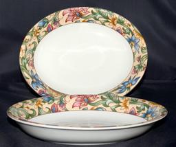 Royal Doulton Jacobean * 2 OVAL SERVING VEGETABLE BOWLS * Everyday, Flor... - $49.99