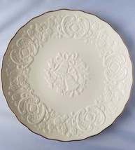The Lenox China Marriage Plate Symbolic Bells Gold Trim Ivory Wedding Gi... - $29.69
