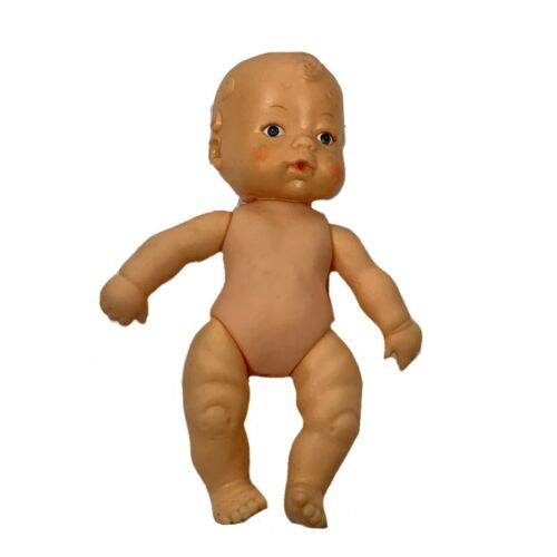 Uneeda Rubber Baby Boy Doll 6 Inches No Clothing  - $12.00