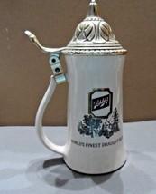 "SCHLITZ BEER MUG STEIN ""WORLD'S FINEST DRAUGHT Beer"" with lid 9"" - $25.00"
