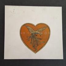 1950 vintage ART PAINT DRAWING PEACOCK original Wm Reg Watkins folk art ... - $68.95