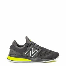 New Balance Men Grey Lime Sneakers Low Top Lace Up Athletic Shoes MS 247 TG - $63.95