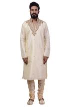 Ethnic Men Beige Indian Designer Kurta 2pc Suits - €60,33 EUR+