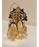 """Danbury Mint - 1989 Gold Christmas Ornament -  """"Doves and Bells"""" (A8) - $14.95"""