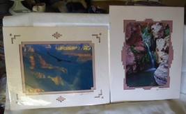 Pair Grand Canyon Matted James Thomson Photos Calif Condor & Waterfall A... - $44.55