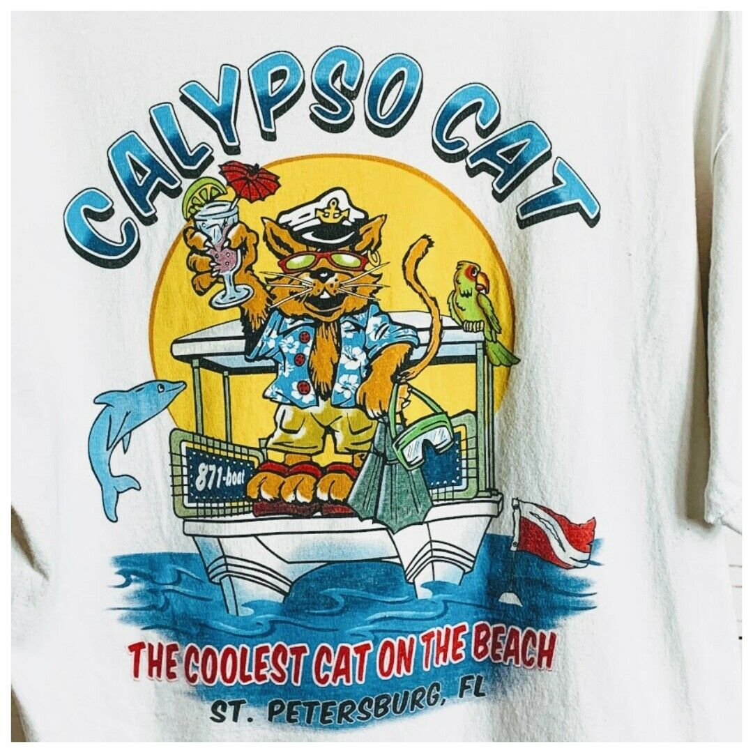 Primary image for Calypso Cat Graphic T Shirt Size L