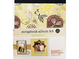 """S.E.I. Scrapbook Album Kit, Desert Springs 8"""" x 8"""", Make 20 Layouts!"""