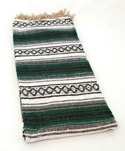 SYFT Green Quality Hand Woven Classic Mexican Premium Yoga Blanket Large... - $26.37 CAD