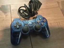 Genuine Original  Play Station 2 PS2 Blue Analog Controller SCPH-10010 - $11.65
