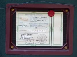 WALTER LAZZARO 1914-1989 SIGNED C.O.A SOLITUDINE WENK CERTIFICATE & FRAME - $186.65