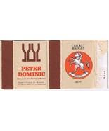 UK Matchbox Cover Cricket Badges Kent Peter Dominic Wines Finland - $1.48