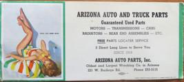 Vintage Gil Elvgren Risque Pin-Up Girl Ink Blotter Arizona Auto Parts - $4.00