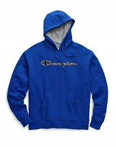 Champion Powerblend Applique Royal Blue Pullover Hoodie Sweatshirt Adult XL - $44.54