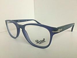 New Persol 3085-V 9020 Matte Cobalto Blue 53mm Oval Rx Eyeglasses Frame Italy  - $119.99