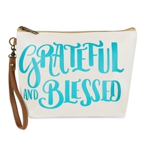 Grateful and blessed cosmetic bag  - $25.95