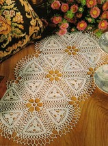 2X Advanced COGWORK Crochet DOILY Challenging TABLE TOPPER Pattern - $5.50