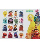 Sesame Street 50 Years & Counting USPS Stamp Sheet of 16 ForeverStamps 2... - $12.95