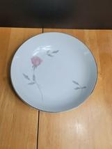 Mikasa Primrose Serving Bowl White Pink Rose Gray Leaves #8194 - $9.89