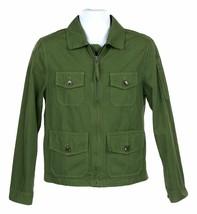J Crew Mens Four Pocket Utility Jacket Cotton Lightweight Coat XS H6536 - $82.79