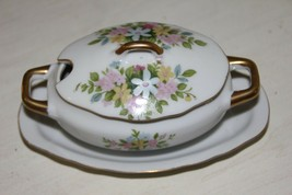Vintage Lefton China Sugar Bowl / Condiment Server 7157 - $12.38