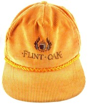 Flint Oak Hunting Club Kansas VTG Well Worn Corduroy Strapback Hat - $54.27