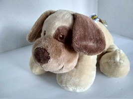 "11"" Taggies Signature Dog Beige Brown Plush Stuffed Soft Toy Mary Meyer Tags - $37.68"