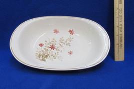 Noritake Oval Serving Bowl Versatone Outlook Pink Red Floral Wildflowers... - $18.80
