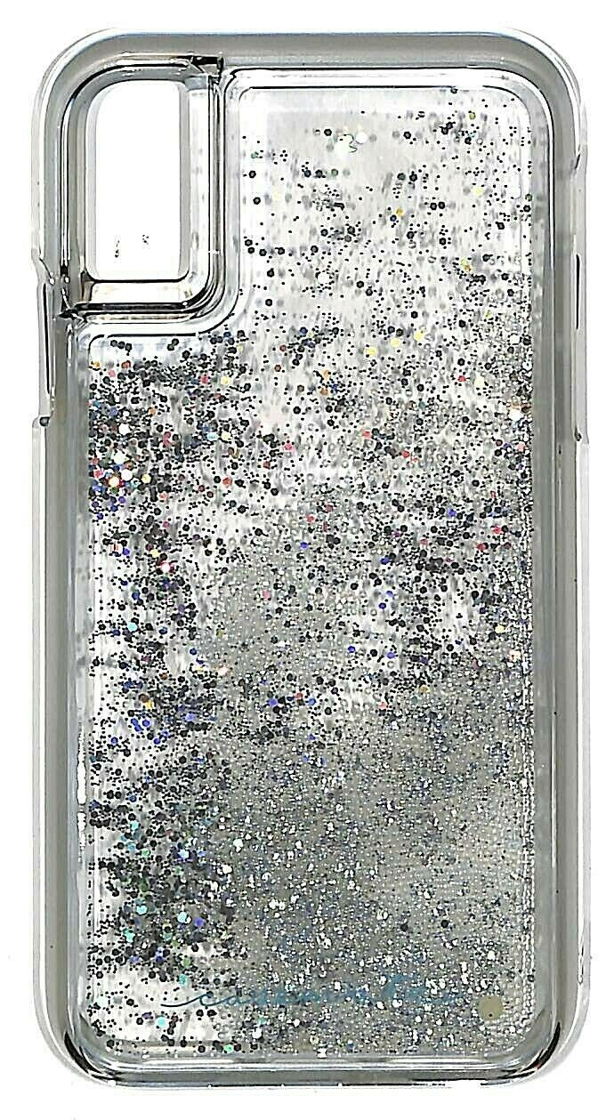 Case-Mate Waterfall Series Liquid Glitter Case for iPhone X, Xs
