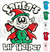 SANTA`S LIL HELPER Infant Baby bodysuit one-piece Boy girl Christmas KP89 - $12.99