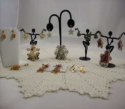 Christmas Jewelry Lot Pin Earrings Sets (#E214) - $48.00