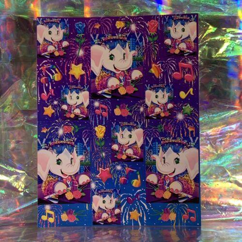 RARE Flawless Vintage Lisa Frank Elephant John S369 Full Sticker Sheet