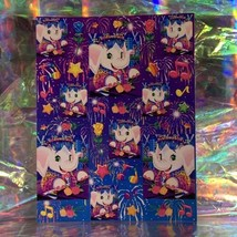 RARE Flawless Vintage Lisa Frank Elephant John S369 Full Sticker Sheet