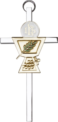 Primary image for Communion Chalice Wall Cross - Gold & Silver