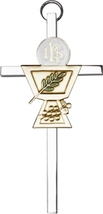 Communion Chalice Wall Cross - Gold & Silver