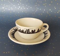Fishs Eddy New York Skyline Coffee Cup Tea Cup Twin Towers Homer Laughli... - $32.62