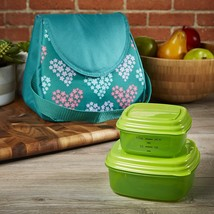 Fit & Fresh Ella Insulated Lunch Bag Set with Reusable Containers Green ... - $24.52