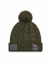 Era Women 2018 Salute to Service Sideline Cuffed Knit Hat – Olive Minn... - $29.57