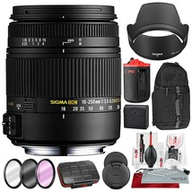 Sigma 18-250mm F3.5-6.3 DC Macro OS HSM for Nikon F Mount DSLR Cameras with Xpix - $549.00