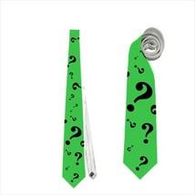 necktie riddler question mark halloween superhero - $23.00