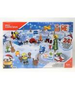 Mega Bloks Despicable Me Minion Christmas Toy Advent Calendar with 2 Min... - $22.15